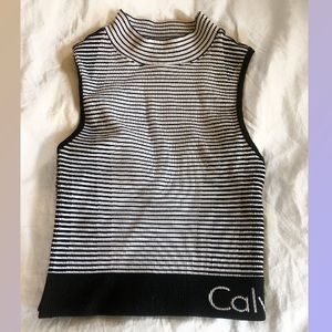 Calvin Klein Performance cropped work out top